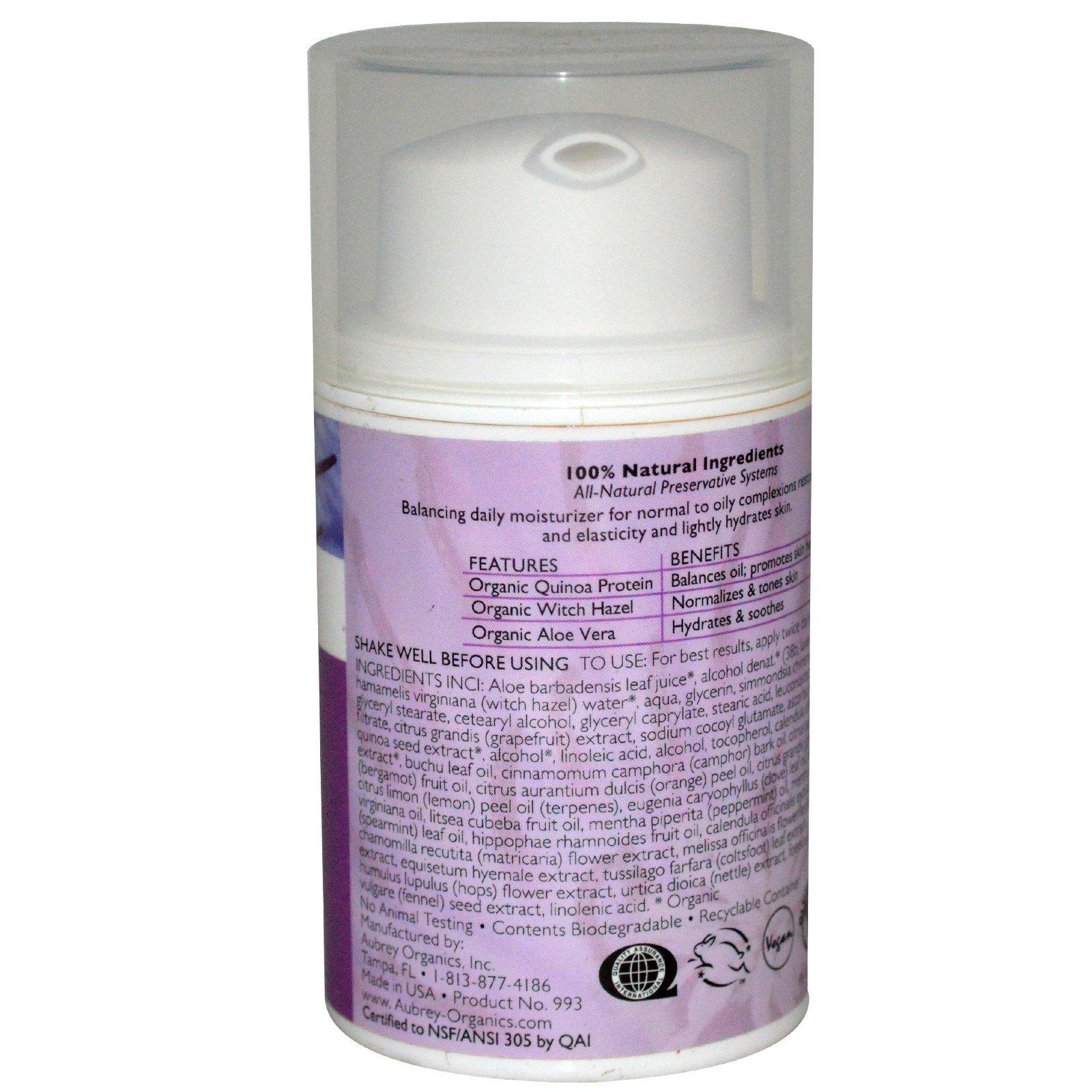Aubrey Organics - EveryDay Basics Moisturizer, Normal/Dry Skin, 1.7 fl oz (50 ml) - 3 Packs BCL Spa Manicure Pedicure Hands Feet Body Soak/Scrub/Mask/Cream Mandarin Orange 4ct