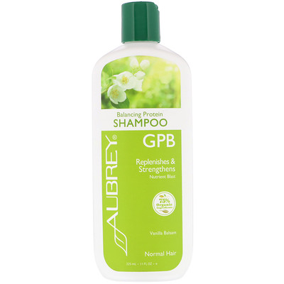 Aubrey Organics GPB Balancing Protein Shampoo, Normal Hair, Vanilla Balsam, 11 fl oz (325 ml)