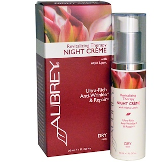 Aubrey Organics, Revitalizing Therapy Night Cream, Dry Skin, 1 fl oz (30 ml)