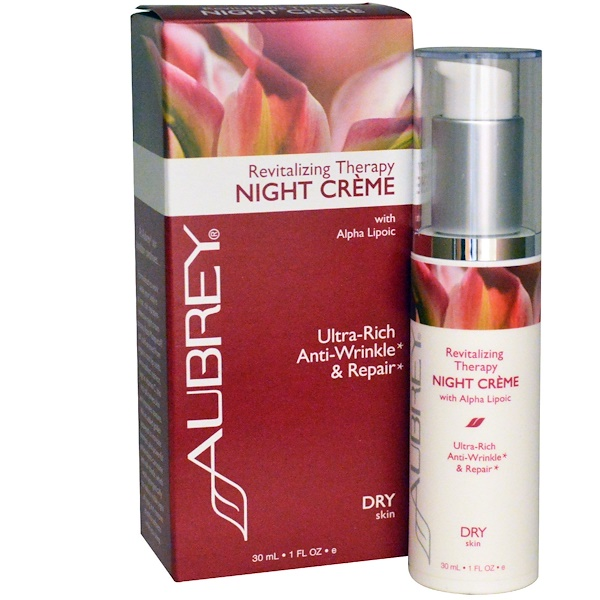 Aubrey Organics, Revitalizing Therapy Night Cream, Dry Skin, 1 fl oz (30 ml)