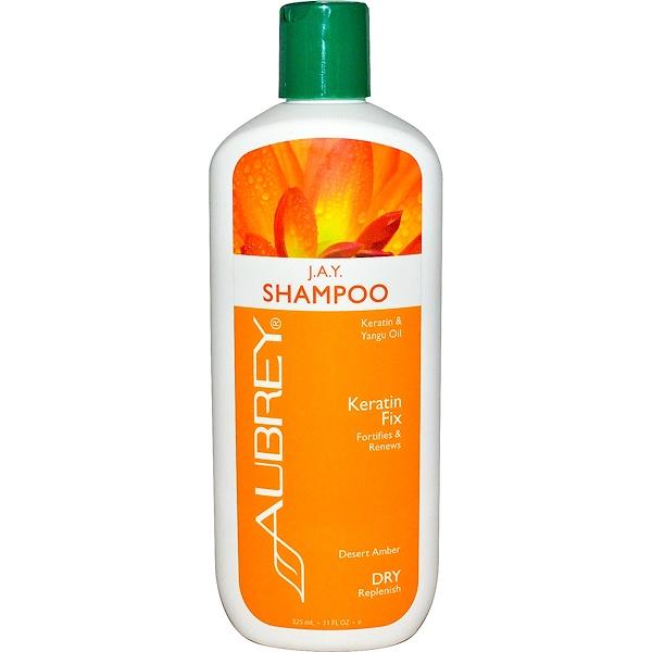 Aubrey Organics, J.A.Y. Shampoo, Keratin Fix, Dry/Replenish, 11 fl oz (325 ml)
