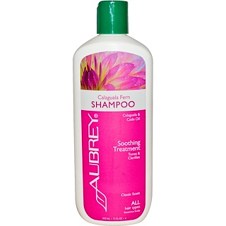 Aubrey Organics, Calaguala Fern Shampoo, Soothing Treatment, All Hair Types, 11 fl oz (325 ml)