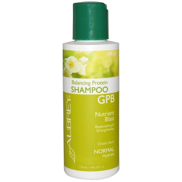 Aubrey Organics, GPB Balancing Protein Shampoo, Nutrient Blast, Normal, 4 fl oz (118 ml) (Discontinued Item)