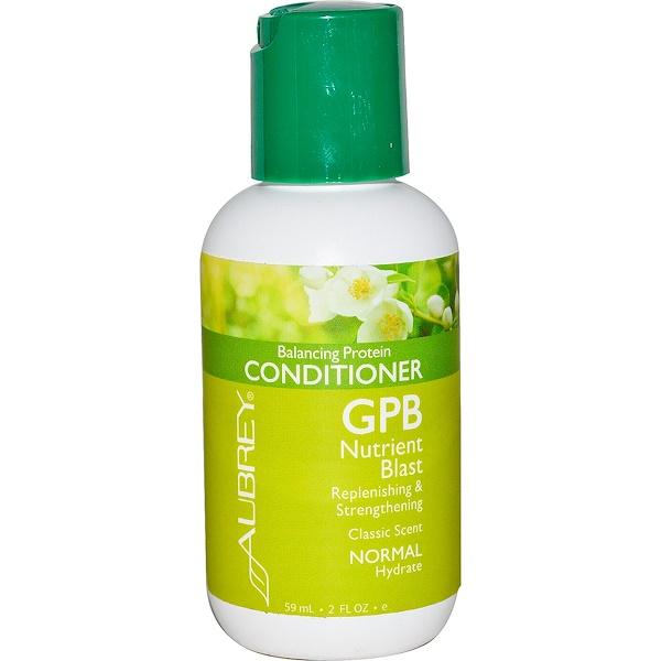 Aubrey Organics, GPB Balancing Protein Conditioner, Classic Scent, Normal, 2 fl oz (59 ml) (Discontinued Item)