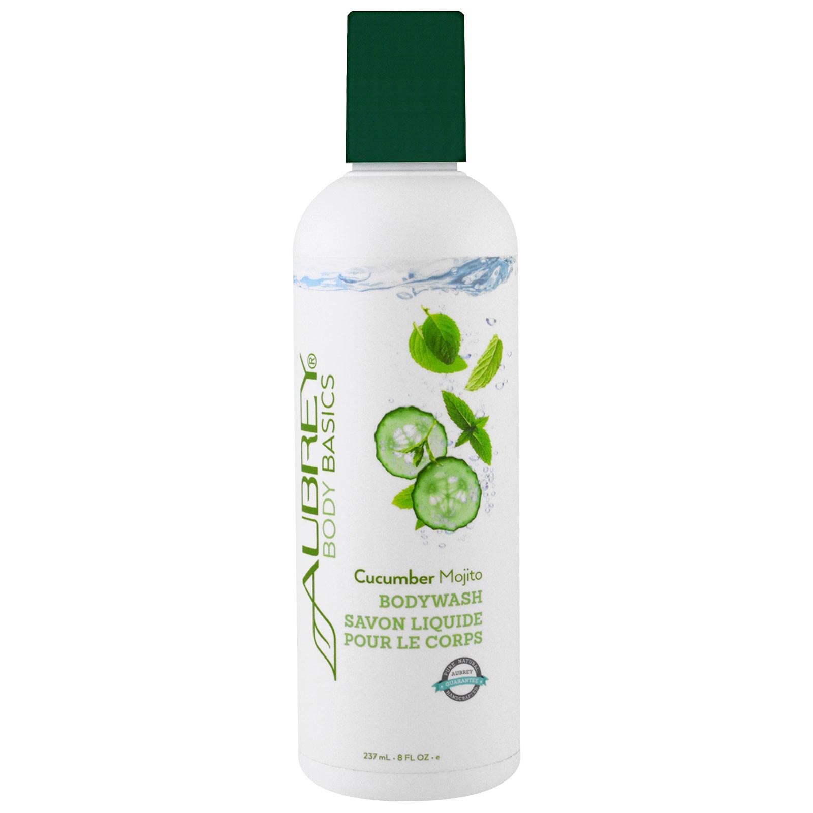 Aubrey Organics, Body Basics, средство для душа, огурец и мохито, 8 жидких унций (237 мл)