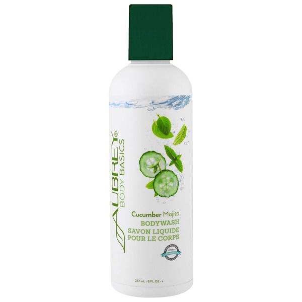 Aubrey Organics, Body Basics, Bodywash, Cucumber Mohito, 8 fl oz (237 ml) (Discontinued Item)