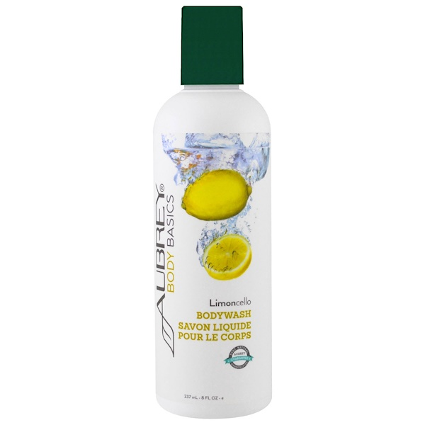 Aubrey Organics, Body Basics, Bodywash, Limoncello, 8 fl oz (237 ml) (Discontinued Item)