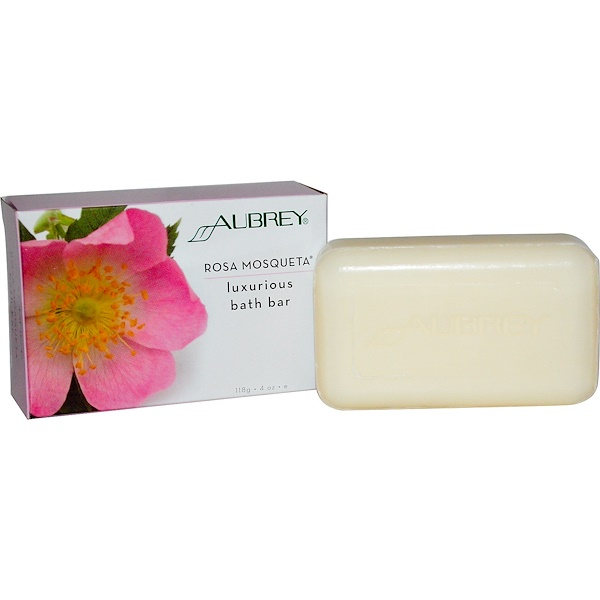 Aubrey Organics, Luxurious Bath Bar, Rosa Mosqueta, 4 oz (118 g) (Discontinued Item)