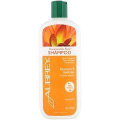 Aubrey Organics, 金銀花玫瑰洗髮水,強烈保濕,乾性,11 液量盎司(325 毫升)