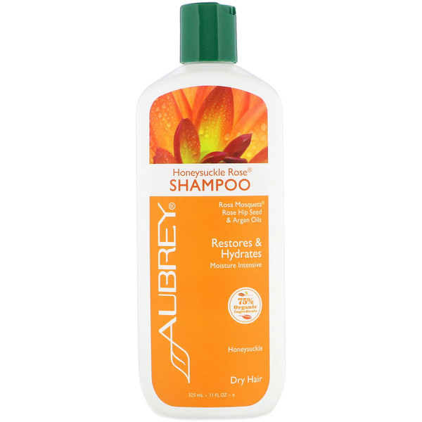 Aubrey Organics, Honeysuckle Rose Shampoo, Moisture Intensive, Dry, 11 fl oz (325 ml)