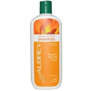 Aubrey Organics, Шампунь из жимолости и розы, интенсивное увлажнение, для сухих волос, 11 жидких унций (325 мл) инструкция, применение, состав, противопоказания