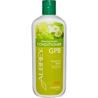 Aubrey Organics, GPB Balancing Protein Conditioner, Rosemary Peppermint, Normal, 11 fl oz (325 ml)