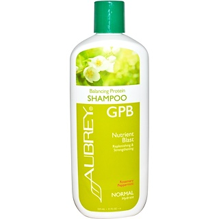 Aubrey Organics, GPB Balancing Protein Shampoo, Rosemary Peppermint, Normal, 11 fl oz (325 ml)