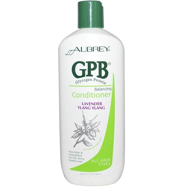 Aubrey Organics, Балансирующий кондиционер для волос с протеином, гликогеном, лавандой и иланг-илангом, 11 жидких унций (325 мл) (Discontinued Item)