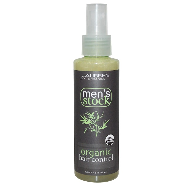 Aubrey Organics, Men's Stock, Organic Hair Control, 5 fl oz (148 ml) (Discontinued Item)