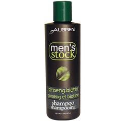 Aubrey Organics, 男人的櫥櫃, 人參生物素洗髮水 , 8液盎司 (237 毫升)