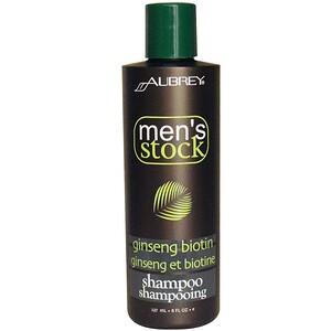 Обри Органикс, Men's Stock, Shampoo, Ginseng Biotin , 8 fl oz (237 ml) отзывы покупателей