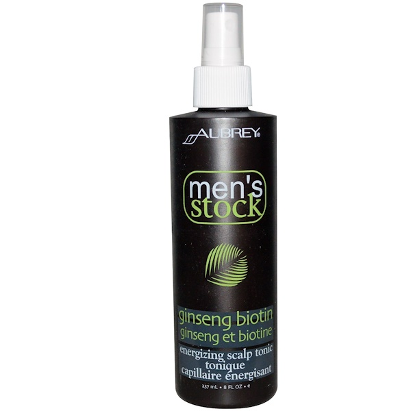 Aubrey Organics, 男士用品, 煥采頭皮滋養劑, 內含人參生物素, 8液盎司 (237毫升)