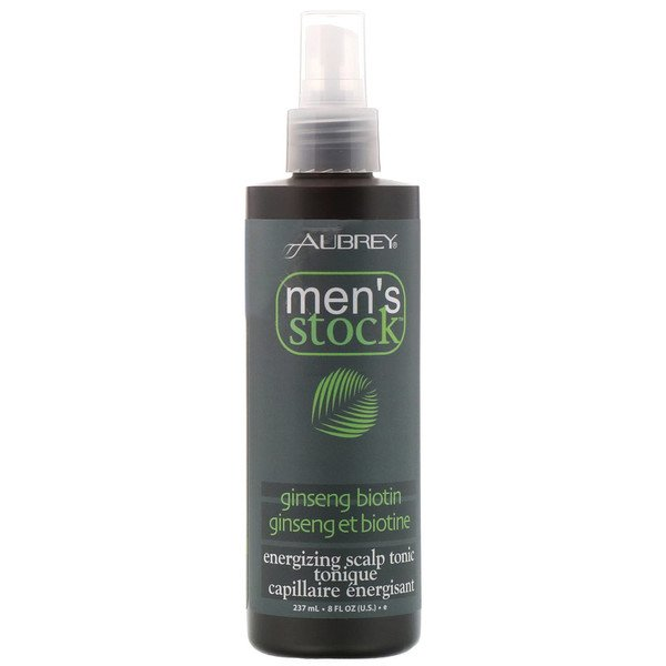 Men's Stock, Energizing Scalp Tonic, Ginseng Biotin, 8 fl oz (237 ml)