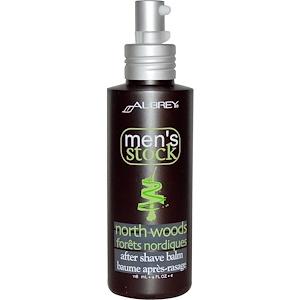 Обри Органикс, Men's Stock, After Shave Balm, North Woods, 4 fl oz (118 ml) отзывы покупателей