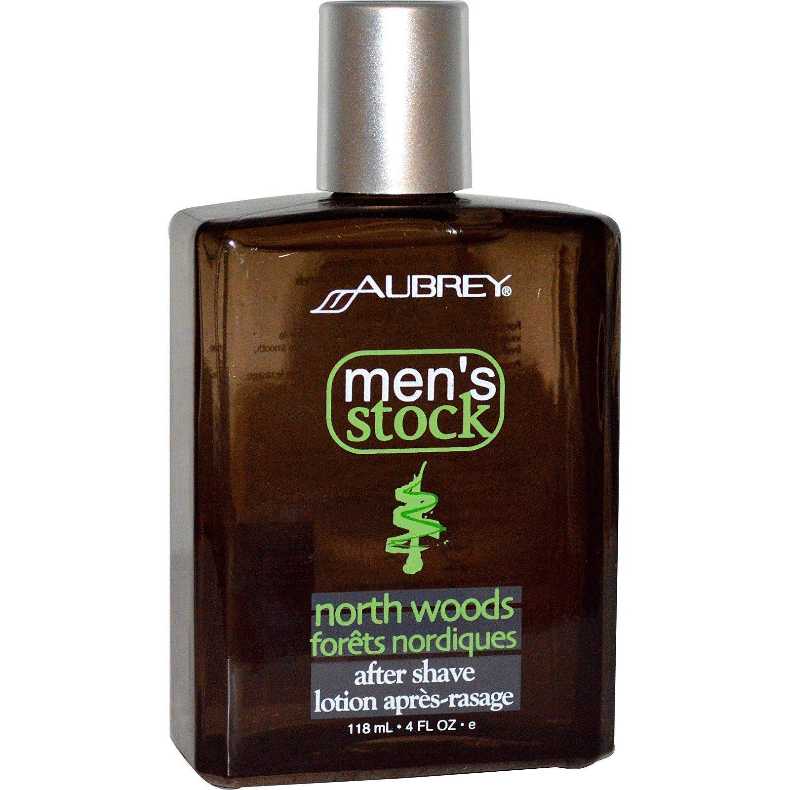 Aubrey Organics, Men's Stock, бальзам после бритья North Woods, классическая сосна, 4 жидкие унции (118 мл)