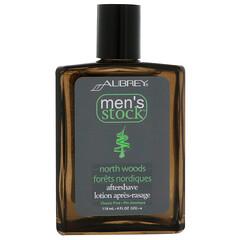 Aubrey Organics, Men's Stock,北方森林須後水,經典松木,4 液量盎司(118 毫升)