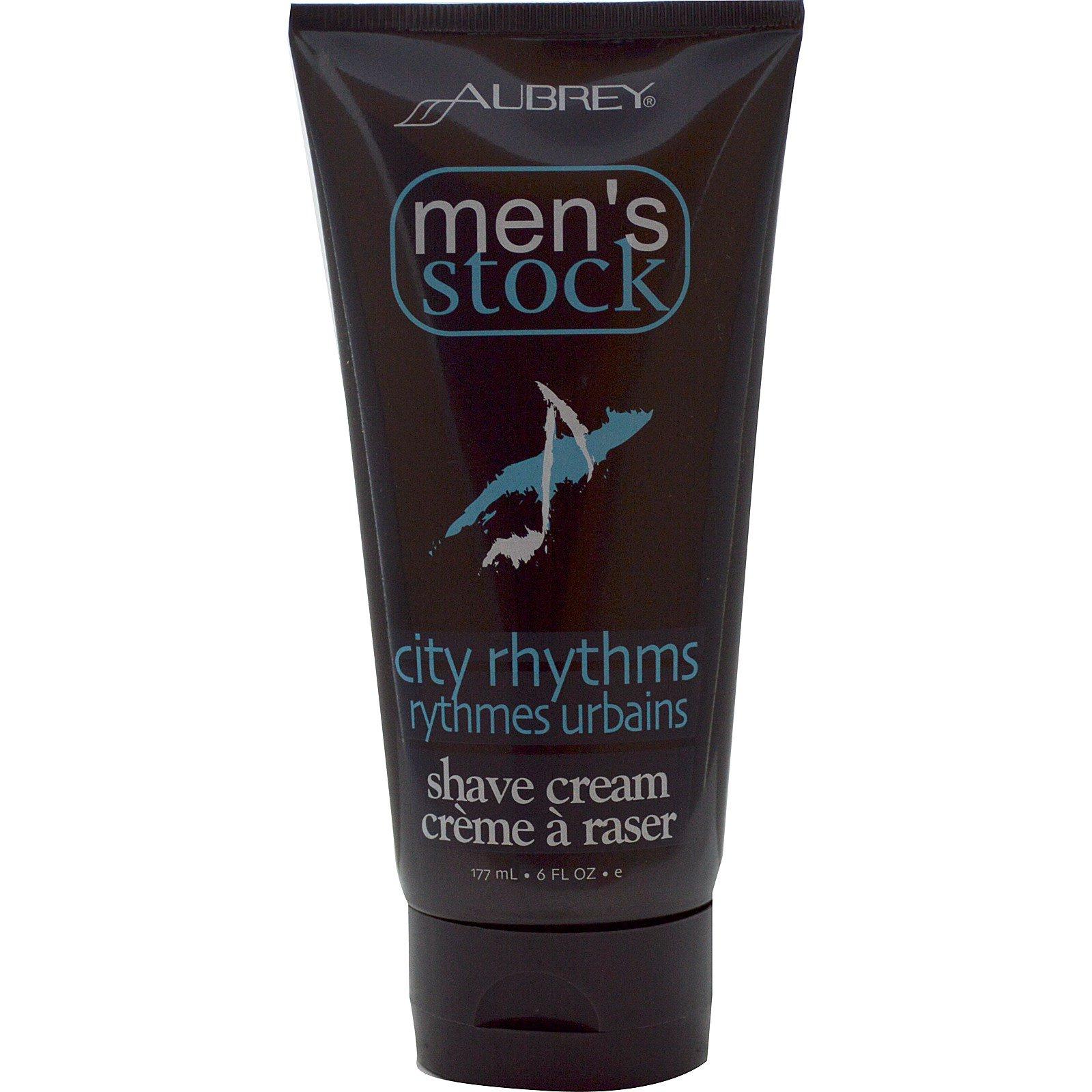 Aubrey Organics, Men's Stock, крем для бритья, City Rhythms, 177 мл