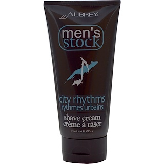 Aubrey Organics, Men's Stock, Shave Cream, City Rhythms, 6 fl oz (177 ml)