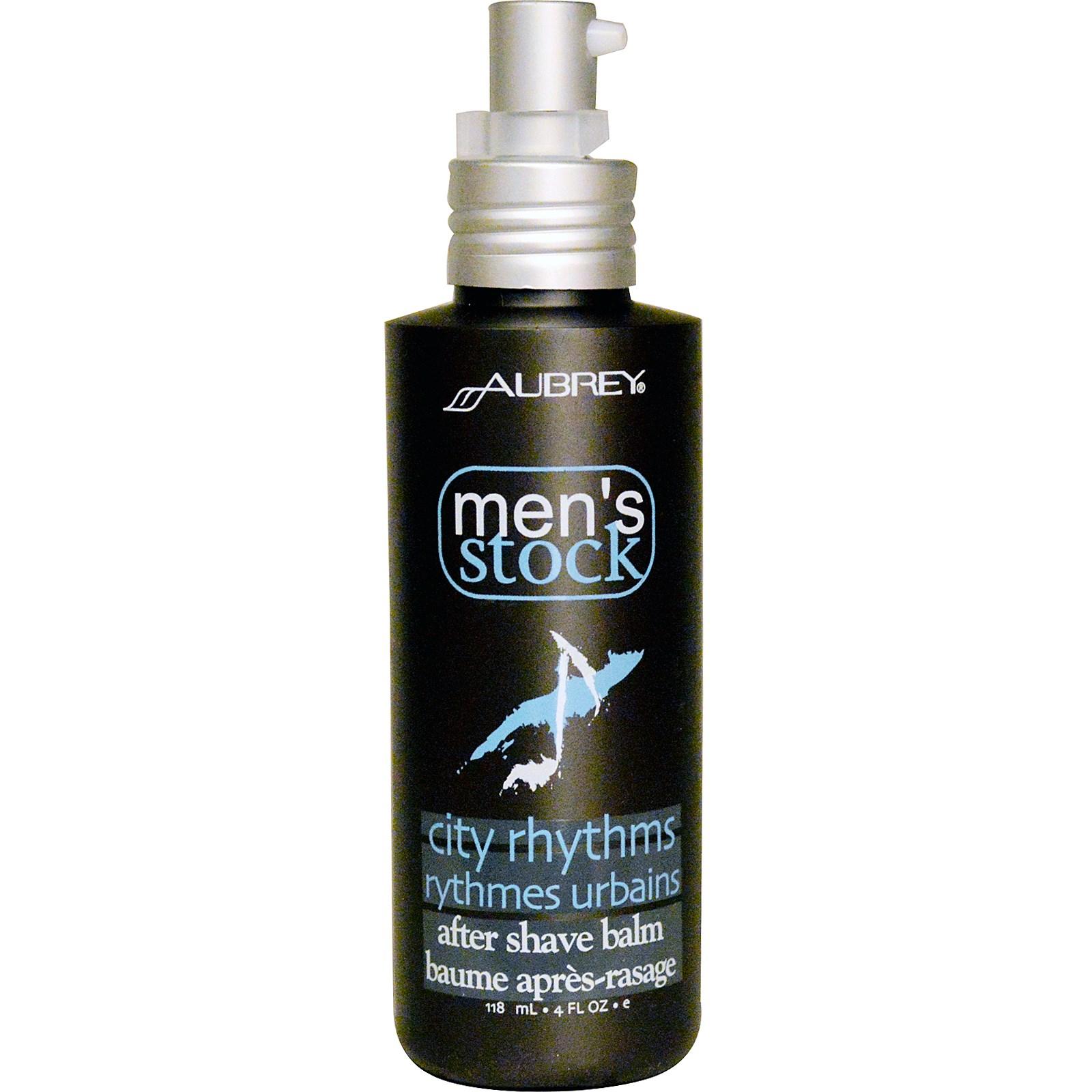 Aubrey Organics, Men's Stock, средство после бритья, Городские ритмы, 4 жидких унций (118 мл)