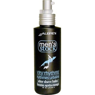 Aubrey Organics, Men's Stock, After Shave Balm, City Rhythms, 4 fl oz (118 ml)