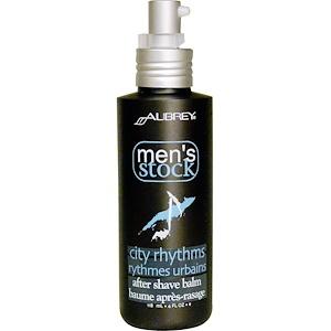 Обри Органикс, Men's Stock, After Shave Balm, City Rhythms, 4 fl oz (118 ml) отзывы покупателей