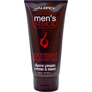 Обри Органикс, Men's Stock, Shave Cream, Spice Island, 6 fl oz (177 ml) отзывы