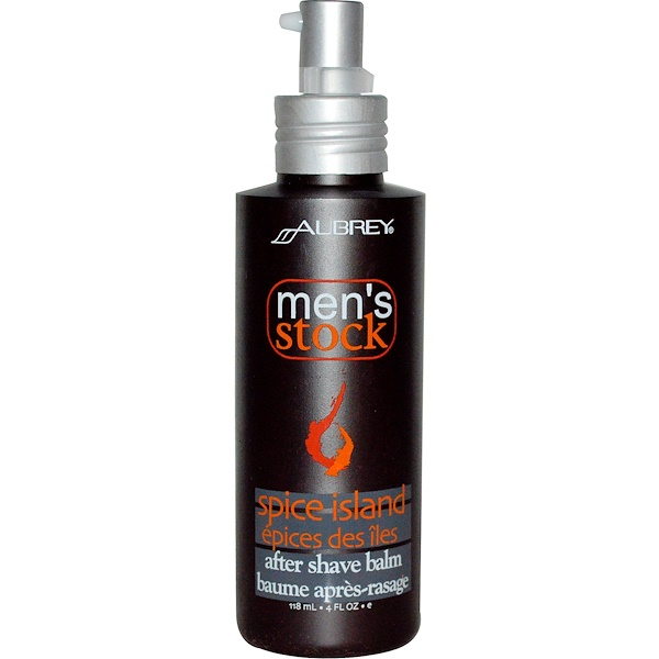 Aubrey Organics, Men's Stock, After Shave Balm, Spice Island, 4 fl oz (118 ml) (Discontinued Item)