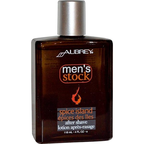Aubrey Organics, Men's Stock, After Shave, Spice Island, 4 fl oz (118 ml) (Discontinued Item)