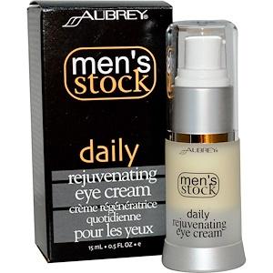 Обри Органикс, Men's Stock, Daily Rejuvenating Eye Cream, 0.5 fl oz (15 ml) отзывы