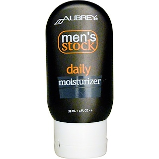 Aubrey Organics, Men's Stock, Daily Moisturizer, 2 fl oz (59 ml)