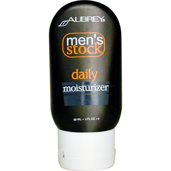 Aubrey Organics, Men's Stock, Daily Moisturizer, 2 fl oz (59 ml) (Discontinued Item)