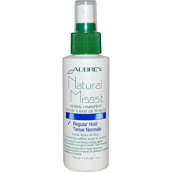 Aubrey Organics, Natural Missst, Herbal Hairspray, 4 fl oz (118 ml) (Discontinued Item)