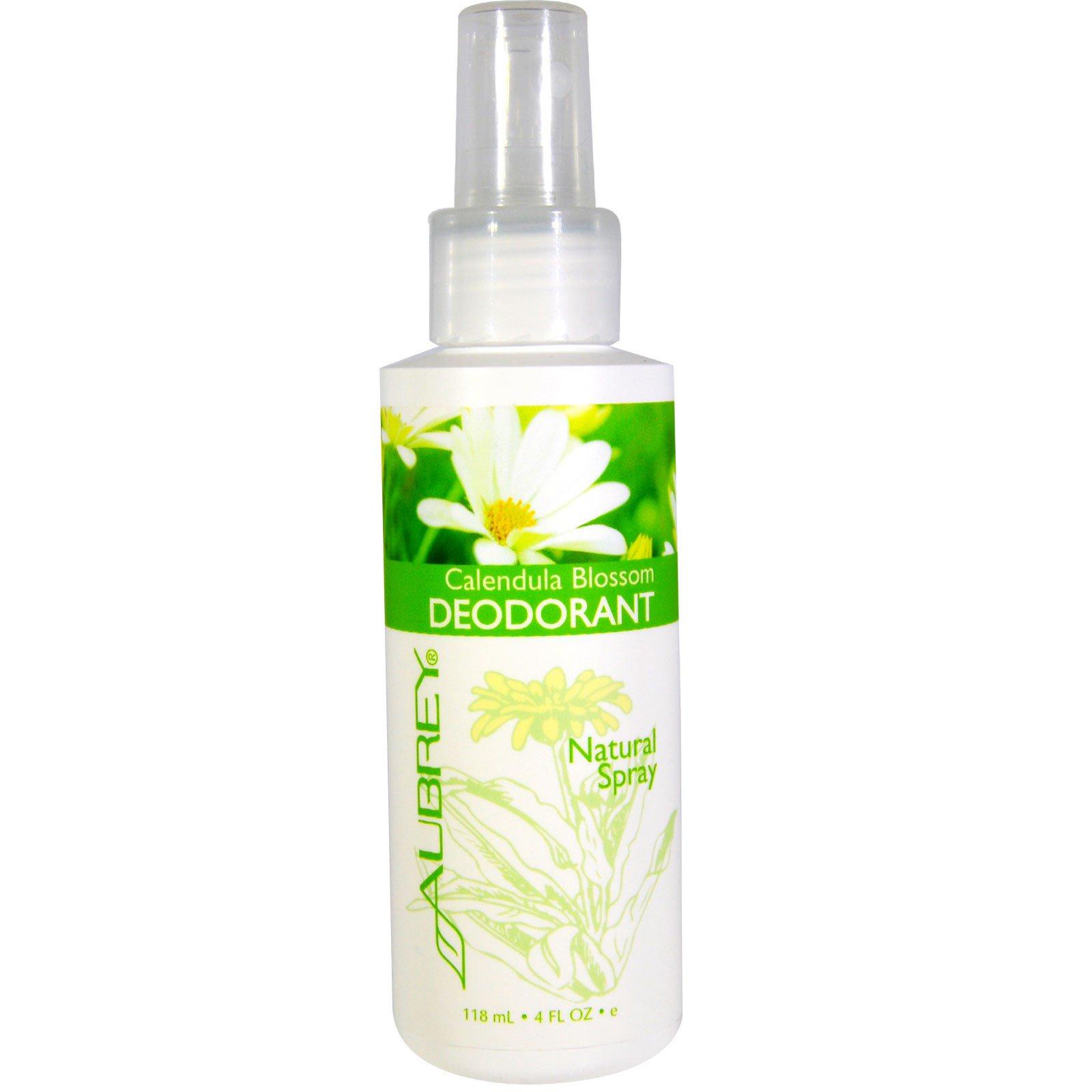 Aubrey Organics, Цветок календулы, дезодорант, натуральный спрей, 4 жидкие унции (118 мл)