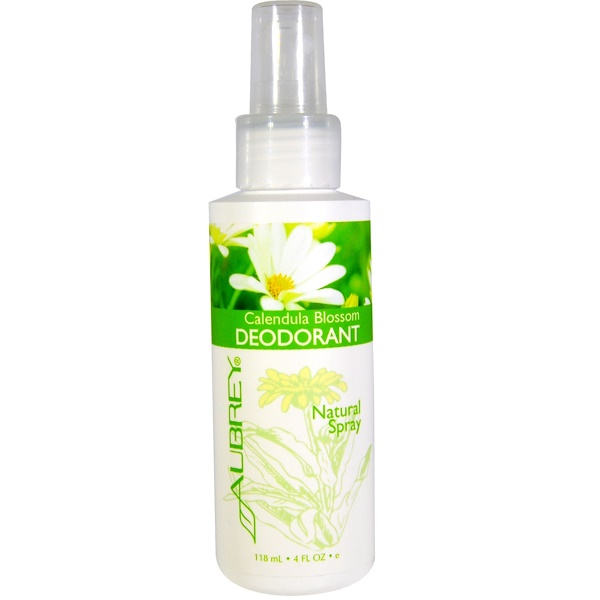 Aubrey Organics, Calendula Blossom Deodorant, Natural Spray, 4 fl oz (118 ml) (Discontinued Item)