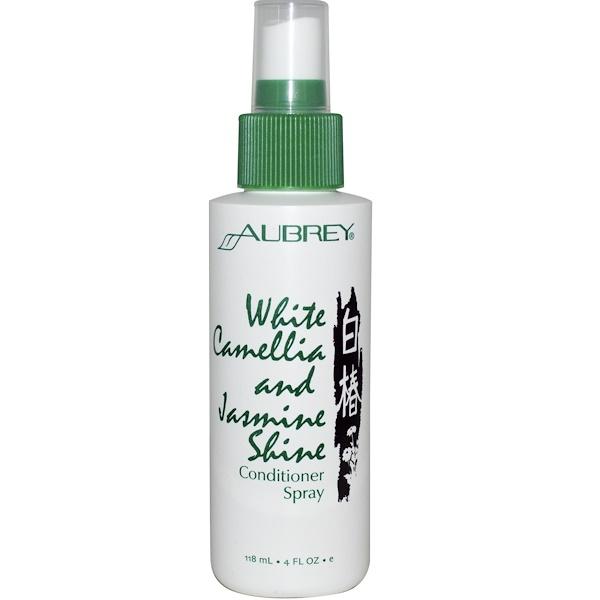 Aubrey Organics, Conditioner Spray, White Camellia and Jasmine Shine, 4 fl oz (118 ml) (Discontinued Item)