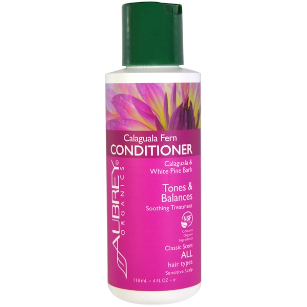 Aubrey Organics, Calaguala Fern Conditioner, Tones and Balances, Classic Scent, 4 fl oz (118 ml) (Discontinued Item)
