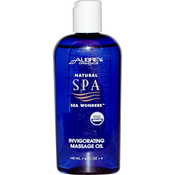 Aubrey Organics, Natural Spa, Sea Wonders, Invigorating Massage Oil, 4 fl oz (118 ml) (Discontinued Item)
