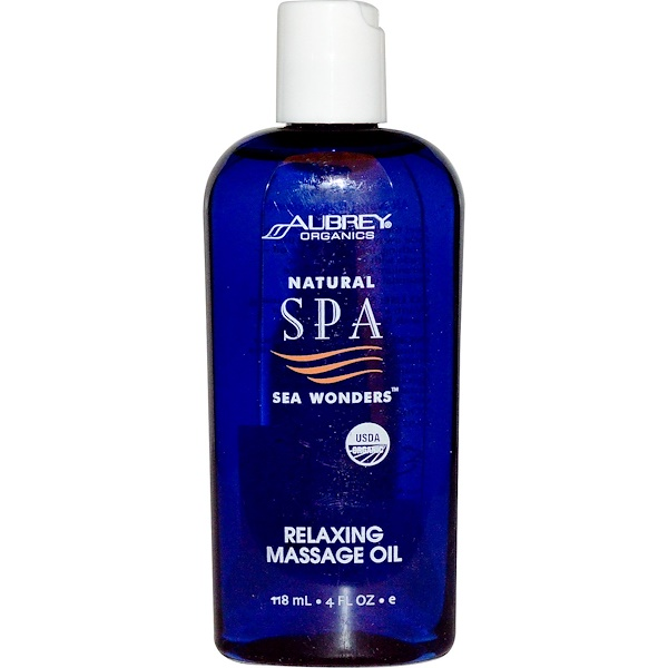 Aubrey Organics, Natural Spa Sea Wonders, Relaxing Massage Oil, 4 fl oz (118 ml) (Discontinued Item)
