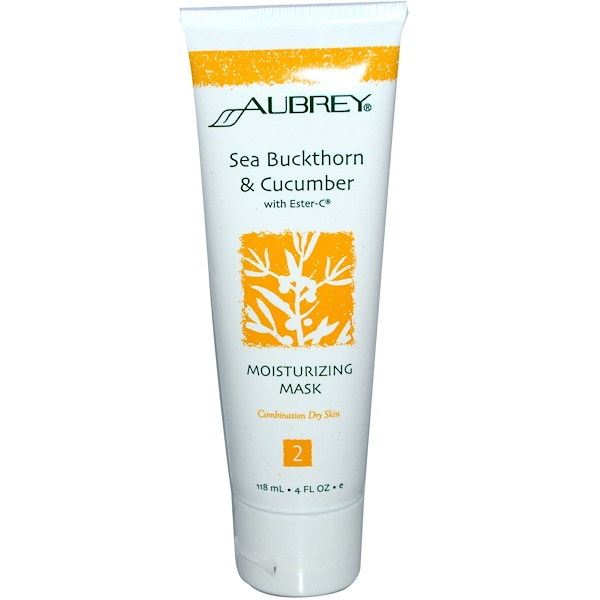 Aubrey Organics, Moisturizing Mask, Sea Buckthorn & Cucumber, with Ester-C, 4 fl oz (118 ml) (Discontinued Item)