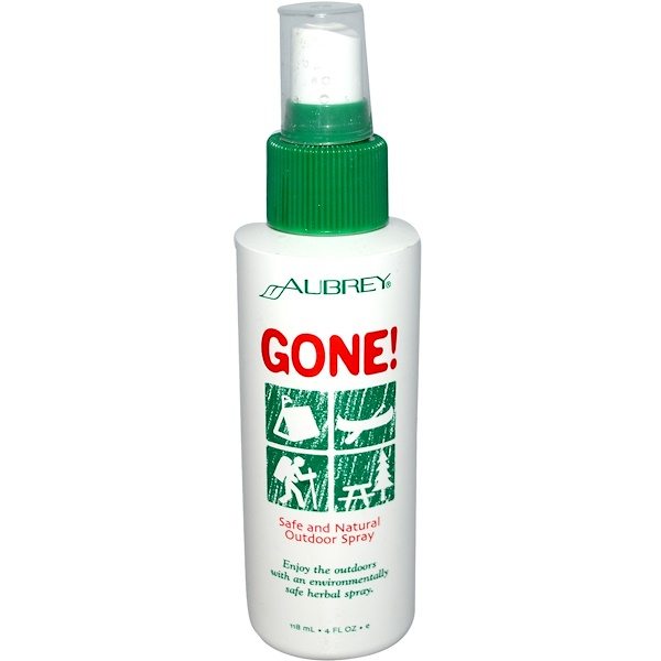 Aubrey Organics, Gone!, Safe and Natural Outdoor Spray, 4 fl oz (118 ml) (Discontinued Item)