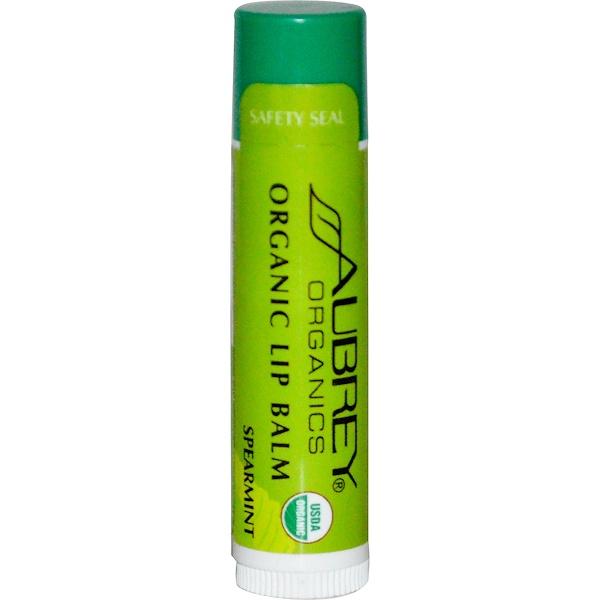 Aubrey Organics, 有機唇膏,綠薄荷,0、15 盎司(4、25 克)