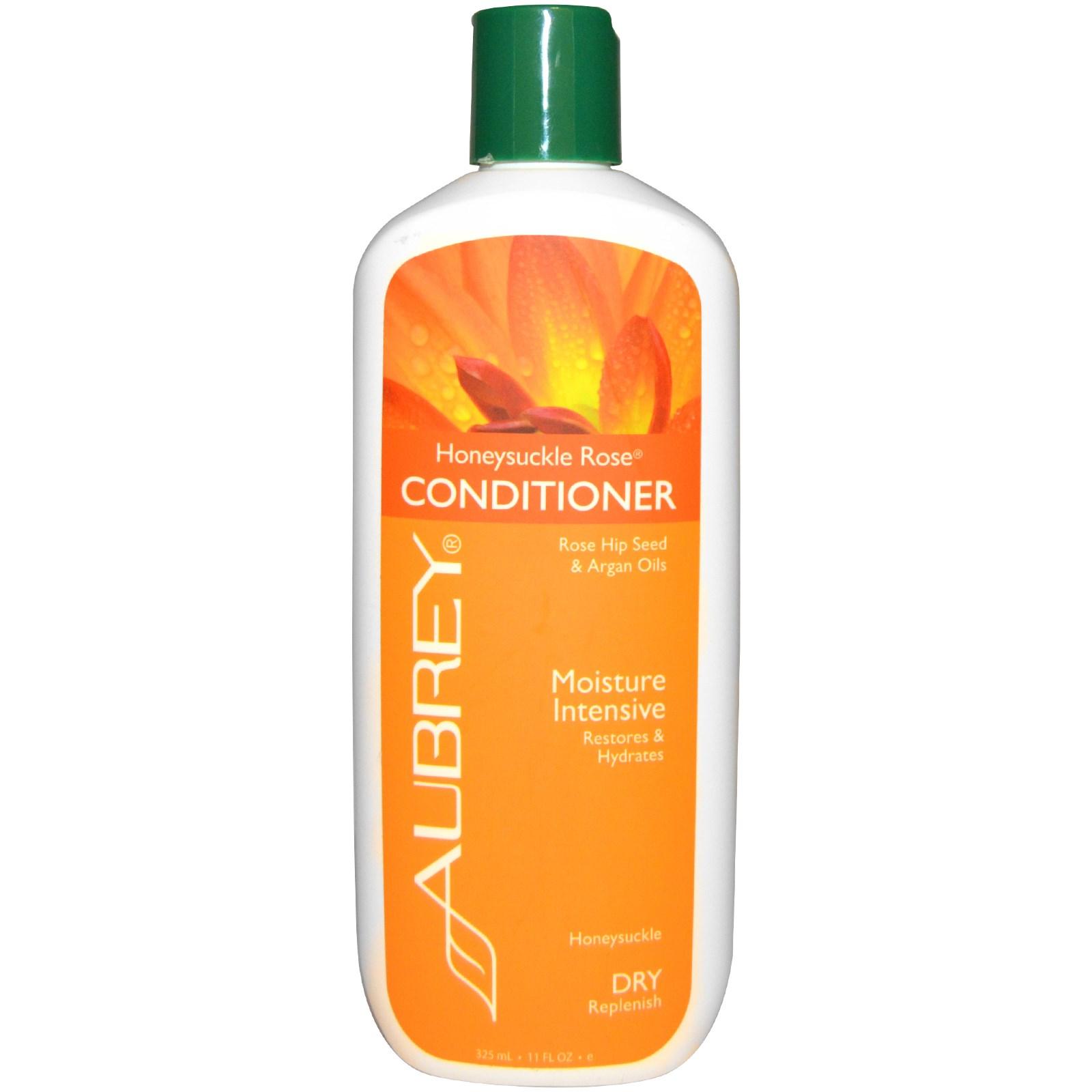 Aubrey Organics, Кондиционер с жимолостью и розой, восстановление и увлажнение, для сухих волос, 325 мл (11 унций)