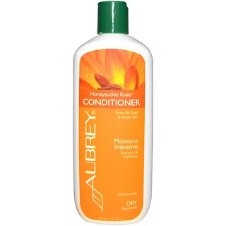 Aubrey Organics, Honeysuckle Rose Conditioner, 회복 & 수분 공급, 건조한 모발, 11 fl oz (325 ml)