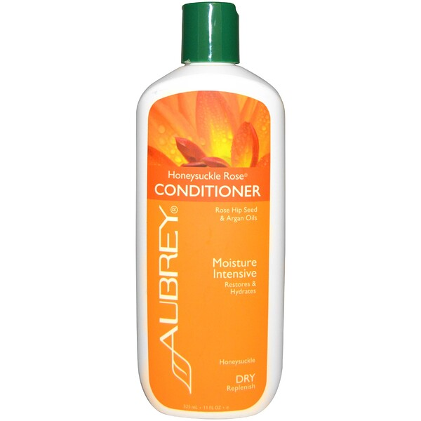 Aubrey Organics, Honeysuckle Rose Conditioner, Restores & Hydrates, Dry Hair, 11 fl oz (325 ml)